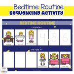 Toddler Bedtime Routine Chart Sequencing Activity