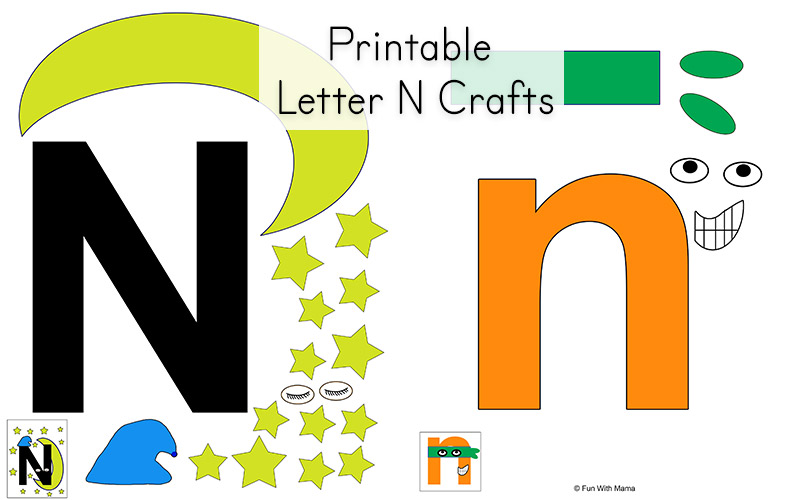 photograph relating to Letter N Printable identified as Letter N Worksheets - Pleasurable with Mama