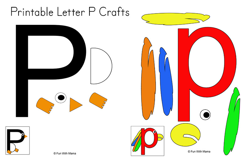 letter p crafts   fun with mama