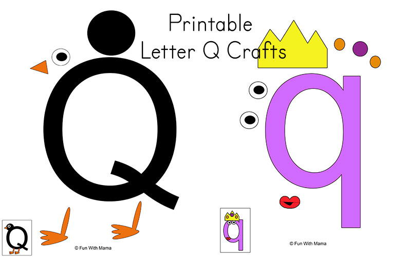 photo regarding Letter Q Printable named Letter Q Preschool Printable Pack - Exciting with Mama