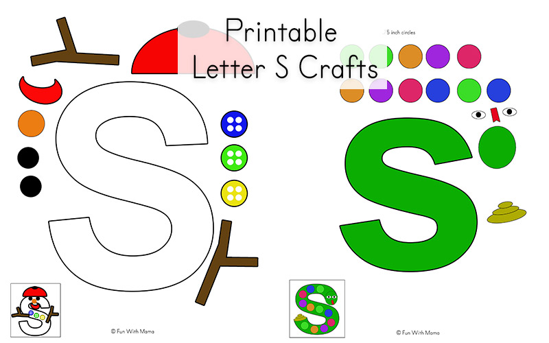 photo relating to Printable Letter S referred to as Letter S Worksheets, Printables and Crafts - Enjoyment with Mama