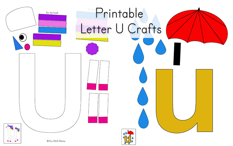 photograph about Letter U Printable titled Letter U Worksheets for Preschool + Kindergarten Pack - Pleasurable