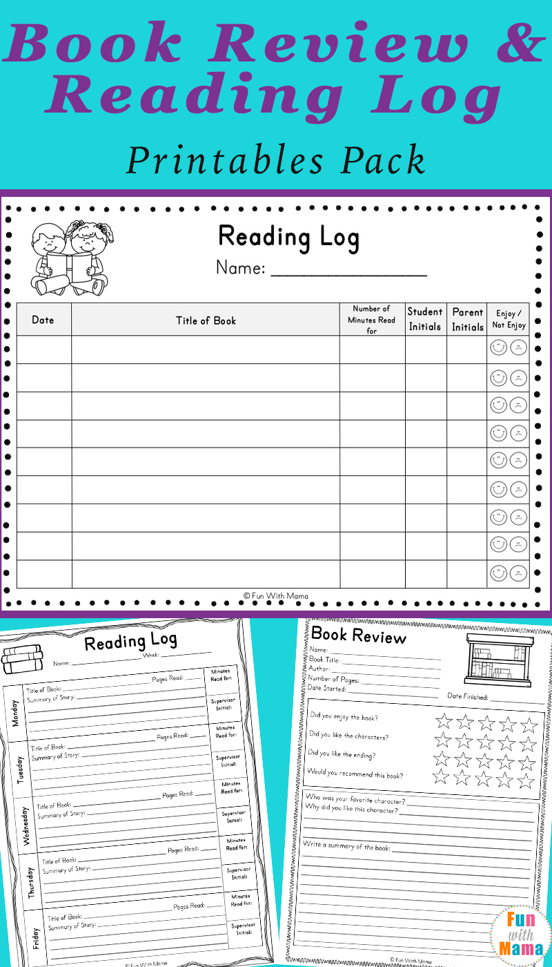 photograph relating to Book Log Printable called Studying Log PDF and E-book Short article Templates - Pleasurable with Mama