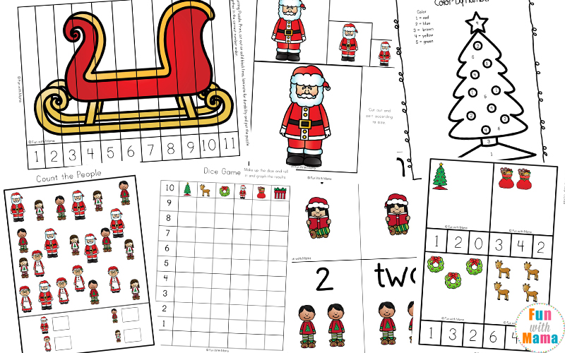 Christmas Worksheets and Printables Fun with Mama – Christmas Worksheets