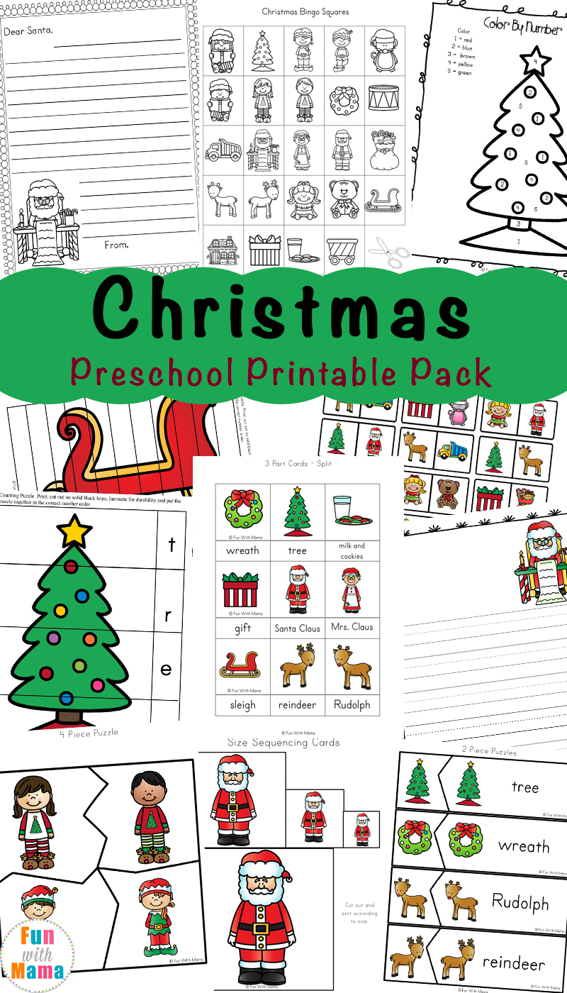 photograph relating to Free Printable Christmas Puzzles named Cost-free Printable Xmas Worksheets - Enjoyable with Mama