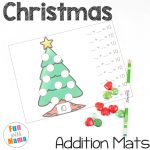 Christmas Math with Tree Addition Mats
