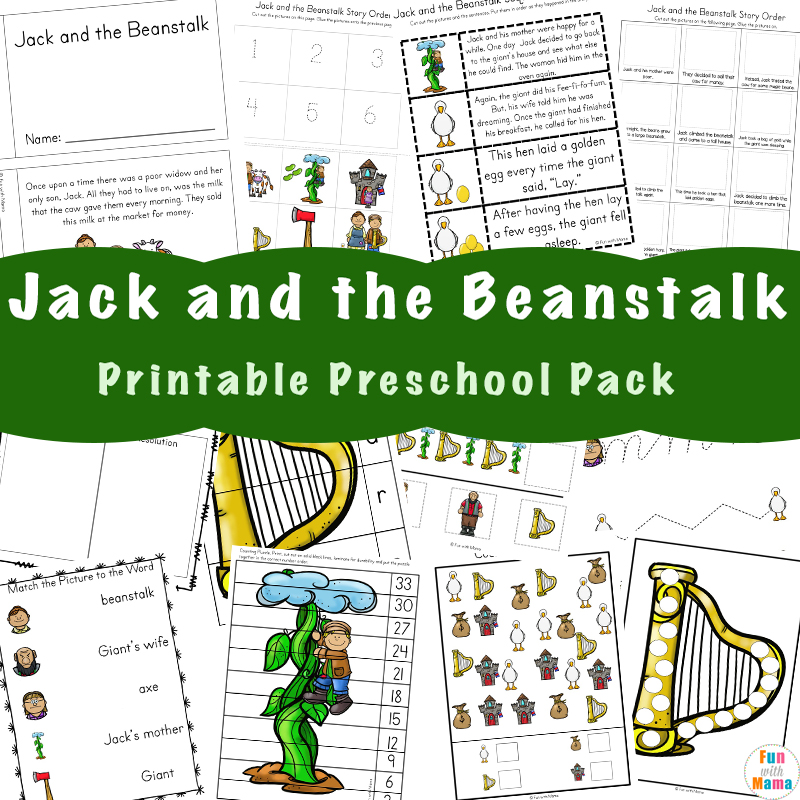 image about Jack and the Beanstalk Printable named Totally free Jack and the Beanstalk Things to do - Exciting with Mama