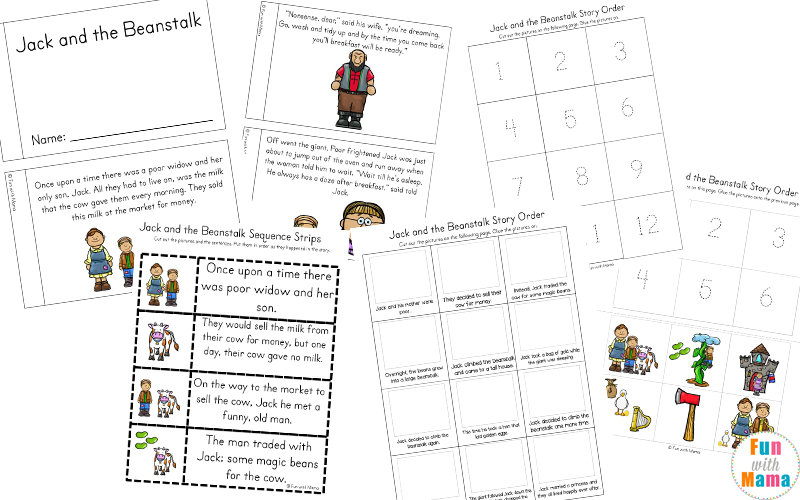 jack and the beanstalk story printable