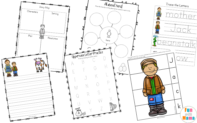 picture about Jack and the Beanstalk Printable named Cost-free Jack and the Beanstalk Functions - Exciting with Mama