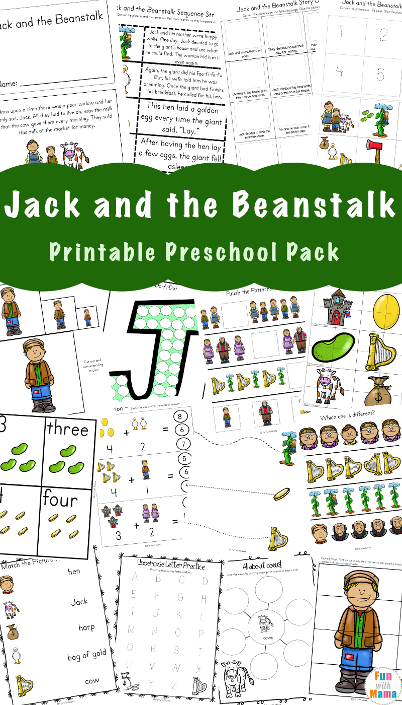 photograph about Jack and the Beanstalk Printable named Cost-free Jack and the Beanstalk Pursuits - Pleasurable with Mama