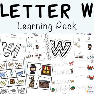 Letter W Worksheets For Preschool + Kindergarten