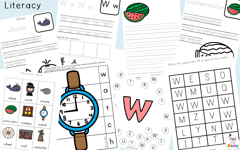 letter w worksheets for kindergarten