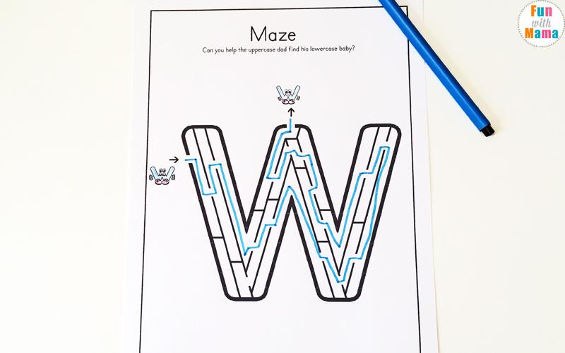 Letter W Worksheets For Preschool Kindergarten Fun with Mama – Letter W Worksheets for Preschool