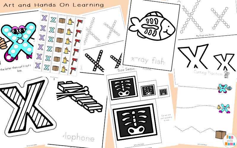 free letter x worksheets for preschool and toddlers