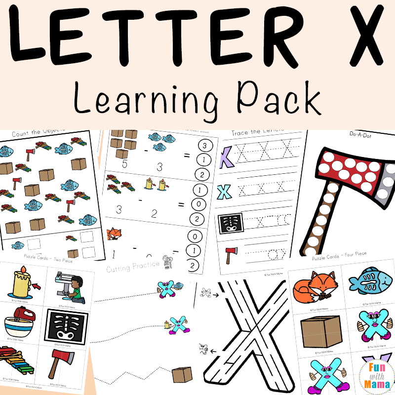 letter x worksheets