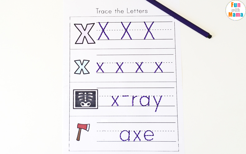 letter x handwriting