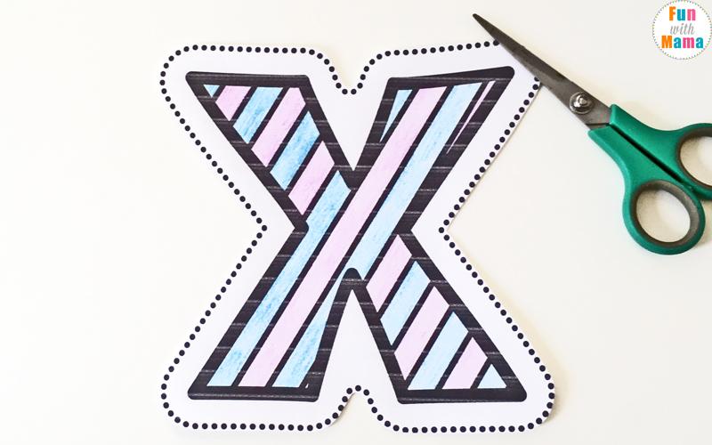 Letter X Worksheets For Preschool + Kindergarten - Fun with Mama