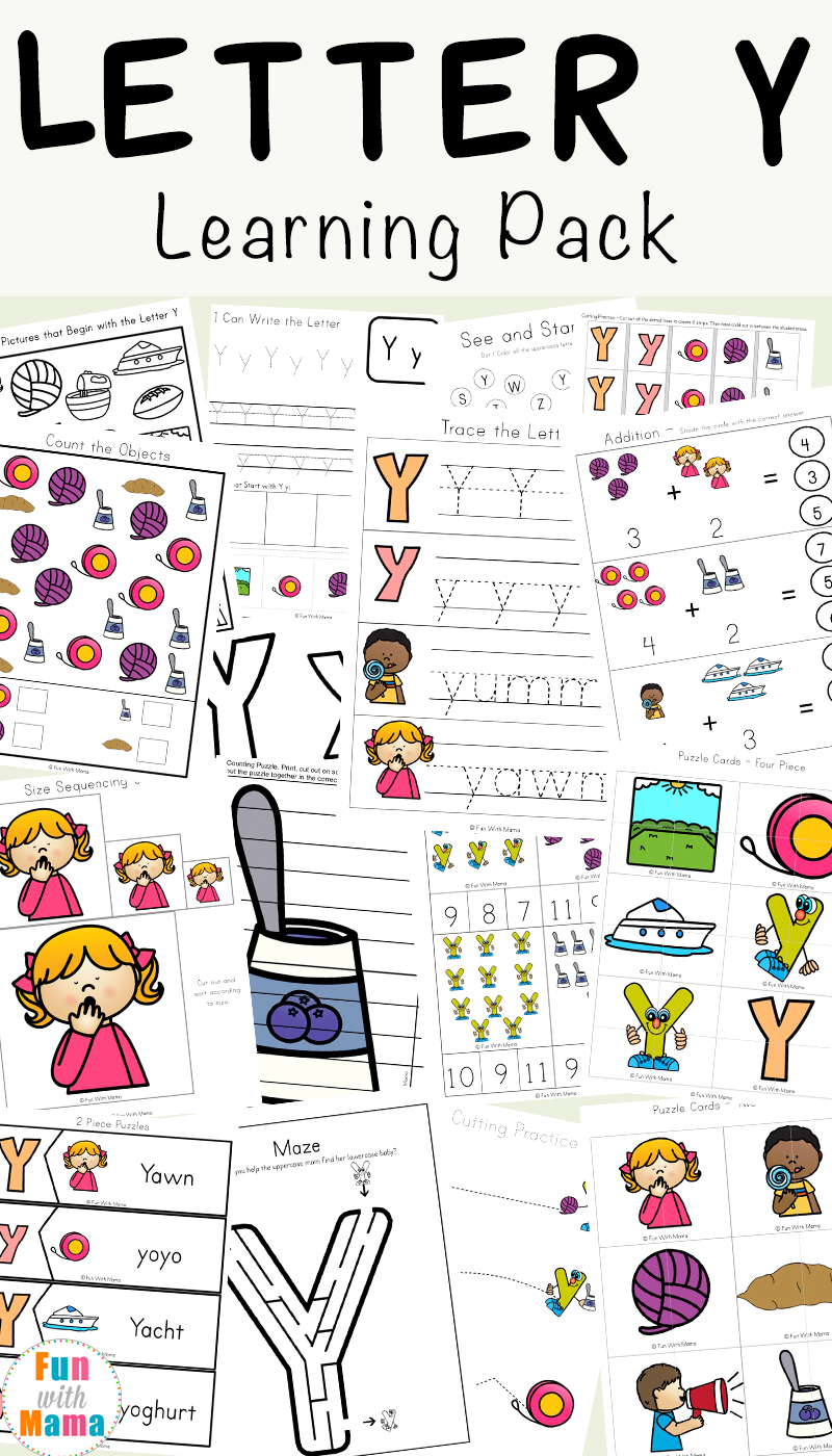 Letter Y Worksheets For Preschool + Kindergarten - Fun with Mama