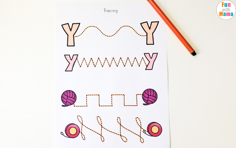 Letter Y Activity.Letter Y Worksheets For Preschool Kindergarten Fun With Mama