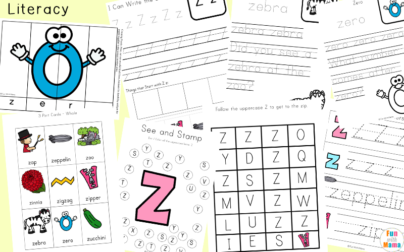 letter z handwriting worksheets