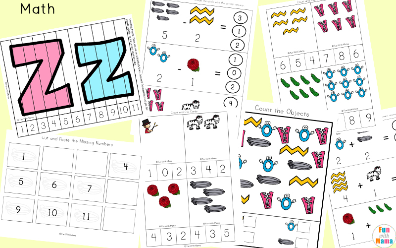 letter z activities for kindergarten