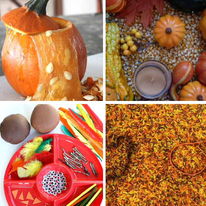 Thanksgiving sensory bins