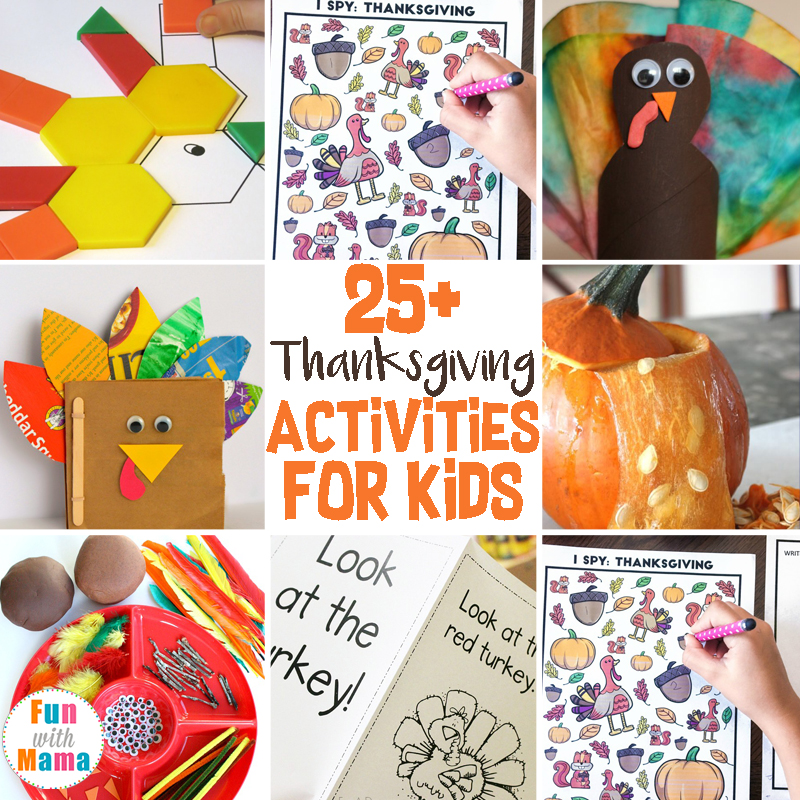 Thanksgiving Activities For Kids: Science, Sensory, Gross Motor, Literacy, Math and Crafts.