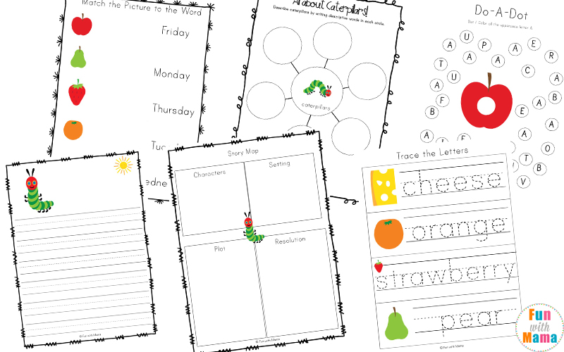 image regarding Very Hungry Caterpillar Printable Activities known as The Amazingly Hungry Caterpillar Things to do - Enjoyable with Mama