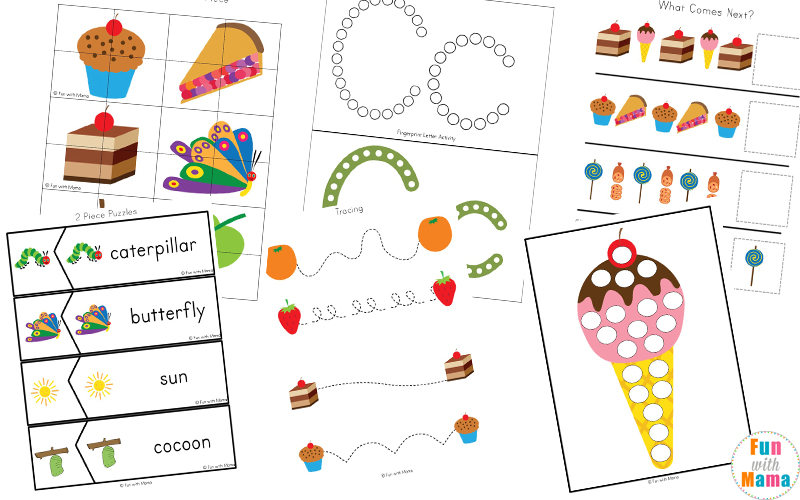 photo about Very Hungry Caterpillar Printable Activities identify The Pretty Hungry Caterpillar Pursuits - Enjoyable with Mama