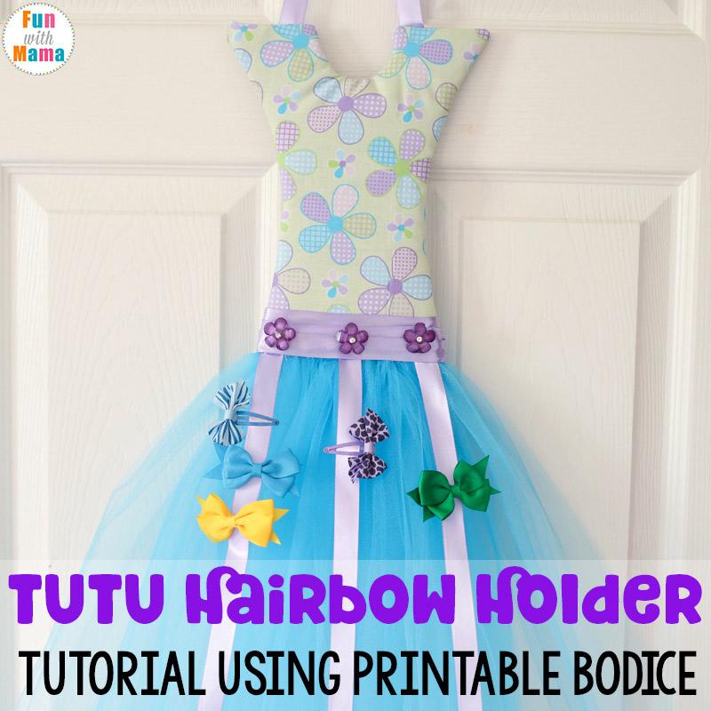 tutu hair bow holder diy