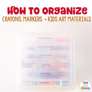 How To Organize Kids Art Supplies – Markers and Crayons