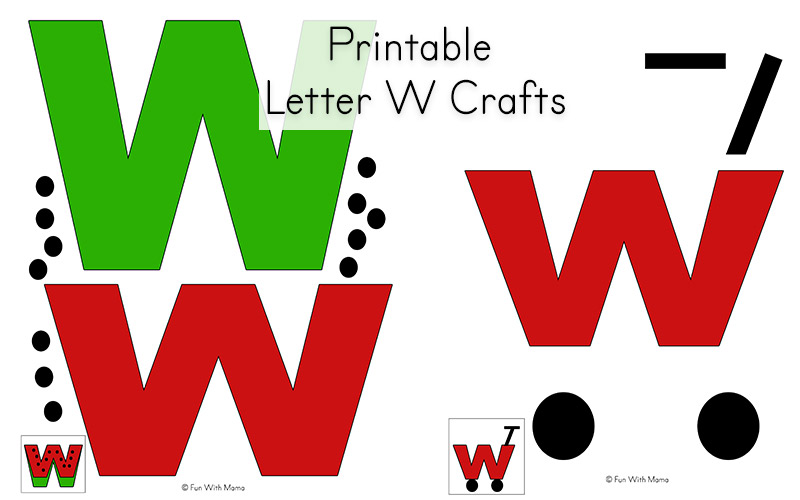 picture regarding Letter W Printable named Letter W Worksheets For Preschool + Kindergarten - Pleasurable with Mama