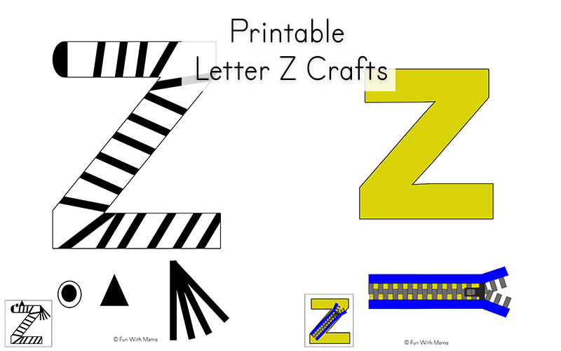 Letter Z Pictures.Letter Z Worksheets For Preschool Kindergarten Fun With Mama