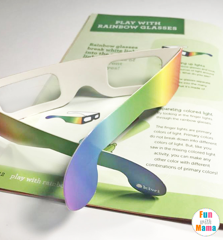 Rainbow Light Kiwi Crate - Help children learn about rainbows, light and color with this fun interactive box!