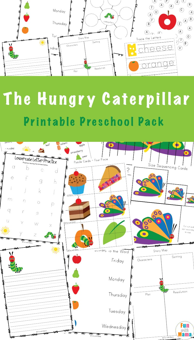 graphic about Very Hungry Caterpillar Printable Activities named The Rather Hungry Caterpillar Functions - Enjoyment with Mama
