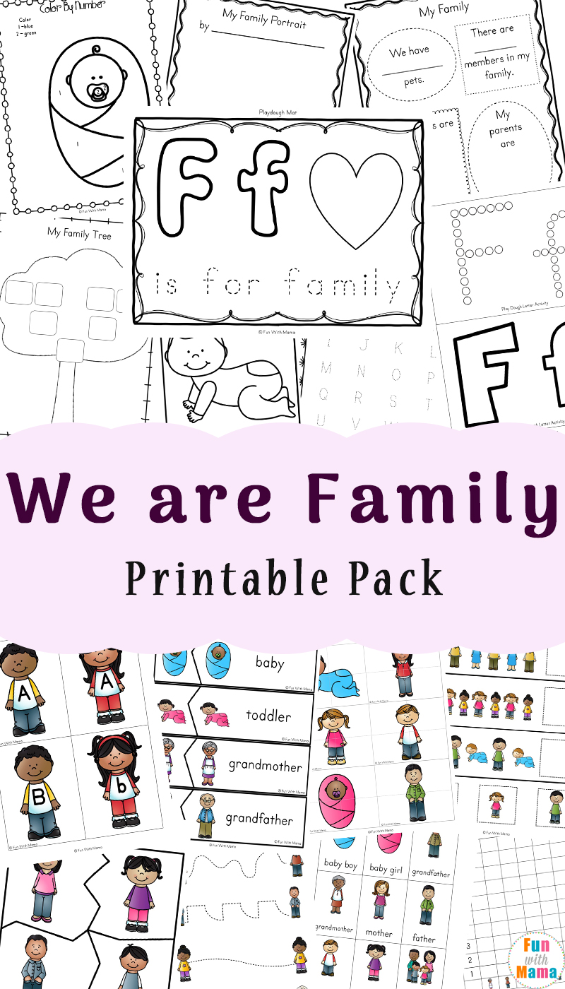 Family Theme Preschool and Family Worksheets For Kindergarten - Fun ...