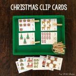 Clothespin Christmas Clip Cards