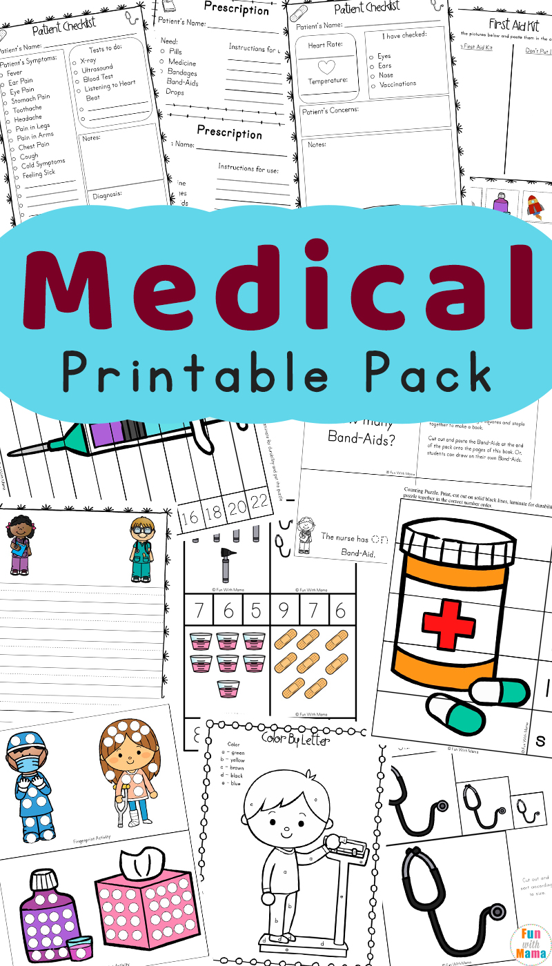 picture about Printable Nurses Week Games named Area Helpers Children Physician Package and Physician Video games For Children