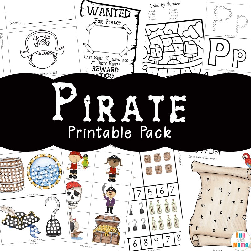 image relating to Pirates Printable Schedule named Pirate Coloring Web pages + Pirate Routines - Entertaining with Mama