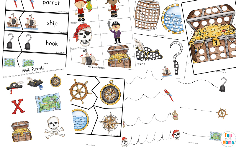 image about Pirates Printable titled Pirate Coloring Internet pages + Pirate Actions - Entertaining with Mama