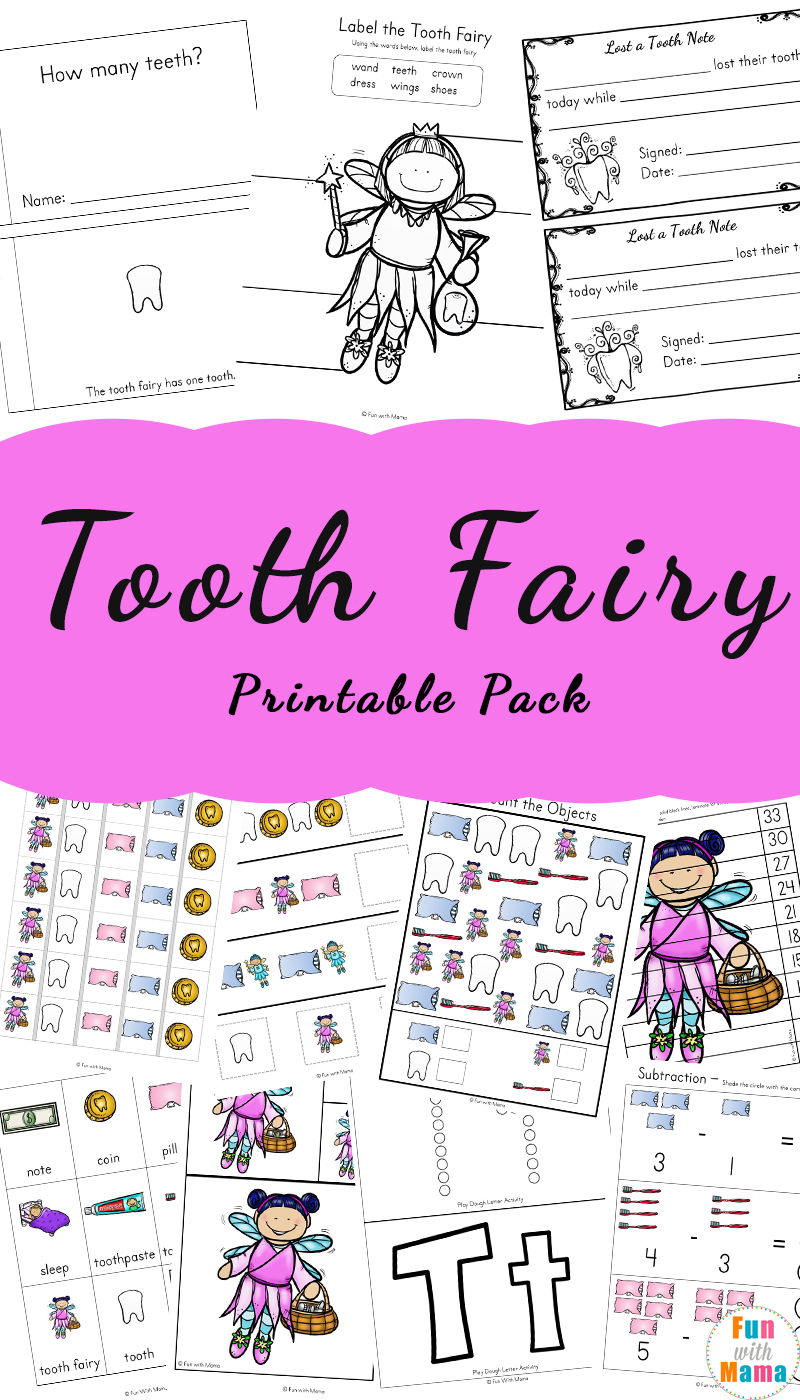 photograph about Free Printable Tooth Fairy Letters known as Enamel Fairy Suggestions and Pursuits With Printable Enamel Fairy