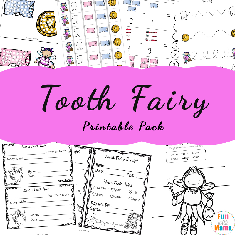 photo relating to Tooth Fairy Printable Letter named Teeth Fairy Programs and Pursuits With Printable Teeth Fairy