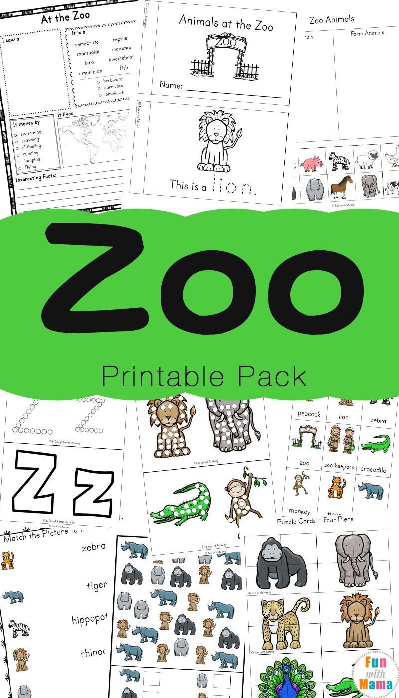 Farm Animal Puzzles Free Preschool Worksheets Printable  |Preschool Animal Lessons