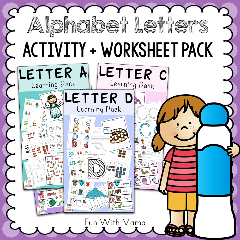 picture relating to Printable Abc identified as Totally free Alphabet ABC Printable Packs - Enjoyment with Mama