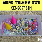 New Year's Eve Sensory Bin