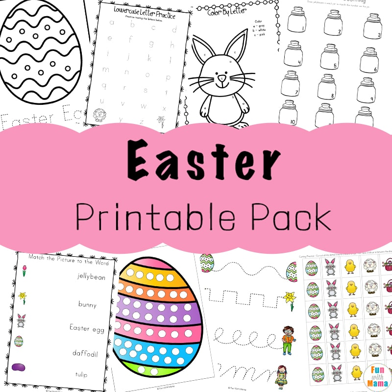 picture relating to Easter Printable known as Easter Actions For Babies and Preschool Printables