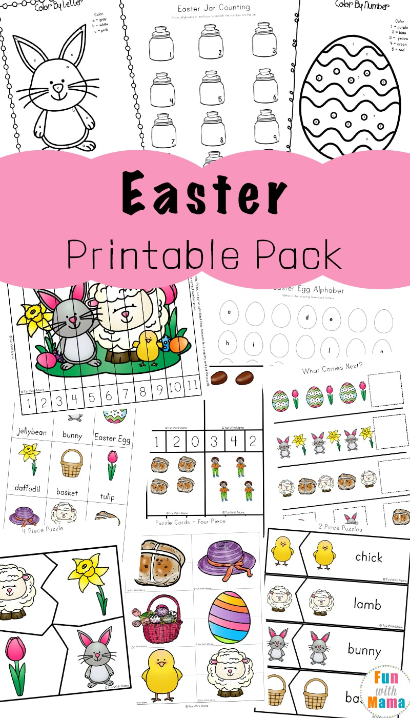 picture about Easter Printable titled Easter Pursuits For Infants and Preschool Printables