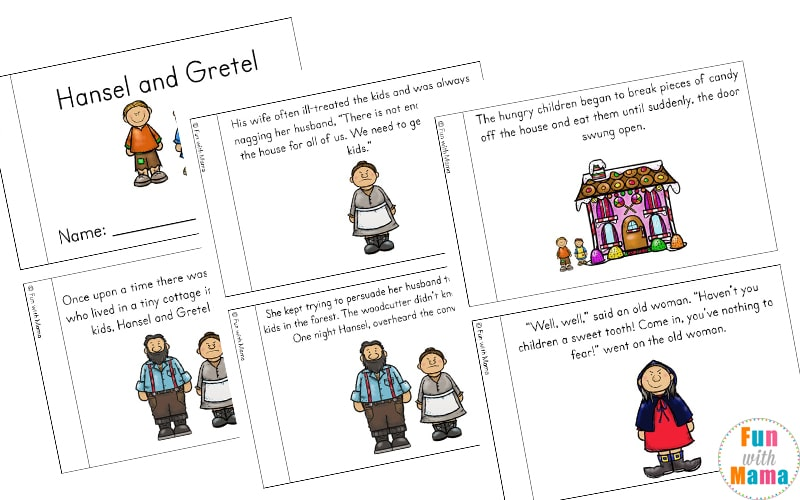 Hansel And Gretel Short Story Activities Fun With Mama