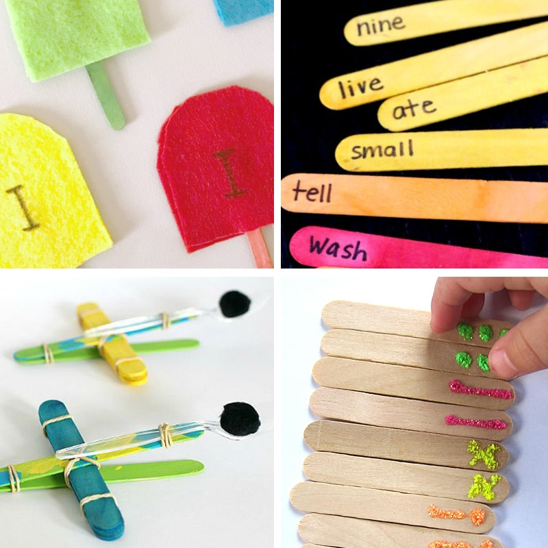 Ice Cream Stick Crafts And Activities