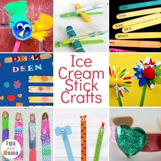 So many fun Ice Cream Stick Craft Ideas and Ice Cream Stick Activity Ideas For Kids